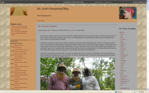 my classroom blog